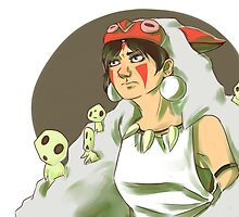 Princess Mononoke by SarahMalito