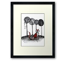 Never out fox the fox Framed Print