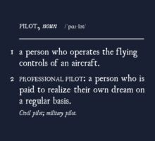 PILOT: a person who is paid to realize their own dream (WHITE SCRIPT) by LimaEchoAlpha