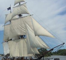 Brig Niagara - Bay City (Michigan) Tall Ships - 2013 by Francis LaLonde