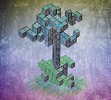 Abstract cube tree by Richard Eijkenbroek