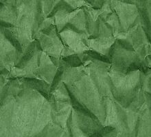 Wrinkled Crumpled Paper Texture - Green  by sitnica