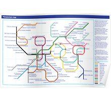 Metabolism - Tube Map Poster