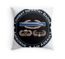 CIB Airborne Air Assault Throw Pillow