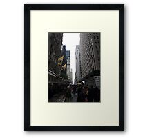 NYC Columbus Day Market Framed Print