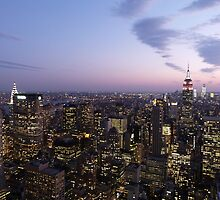 NYC Empire State and Chrysler Building Twilight  by FangFeatures