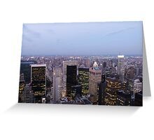 NYC Skyscrapers at Twilight Greeting Card