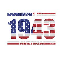 1943 Birthday Year Made In America by thepixelgarden
