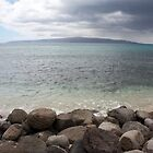 Ahihi Bay Maui with Kaho`Olawe in the distance by Chris Sauerwald