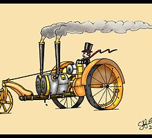 1916 HAPPY FARMER STEAMPUNK TRACTOR by squigglemonkey