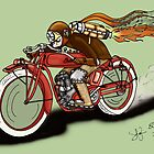 INDIAN MOTORCYCLE STEAMPUNK STYLE by squigglemonkey