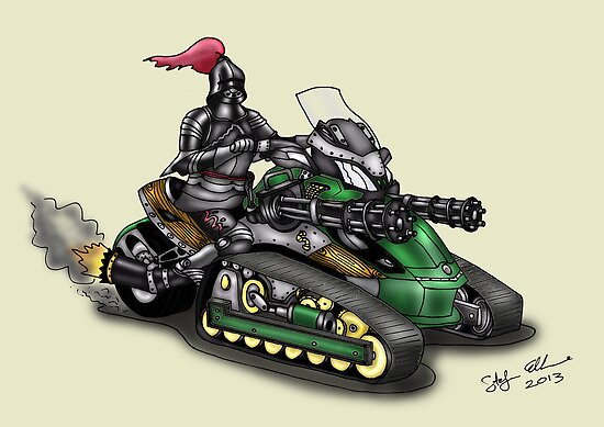 STEAMPUNK 'CAN AM' SPYDER STYLE KNIGHT RIDER MOTORCYCLE by squigglemonkey