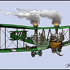 WORLD WAR ONE BOMBER AEROPLANE VICKERS VIMY STYLE STEAMPUNK by squigglemonkey