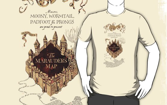 Marauders Map Harry Potter by Ellen Kapelle