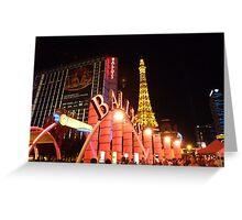 Ballys Las Vegas Greeting Card