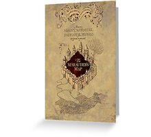 Marauders Map Harry Potter Greeting Card