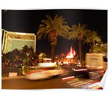 Vegas, The Strip, at Night Poster