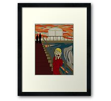 Kevin's Scream Framed Print
