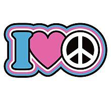 I Love Peace Photographic Print