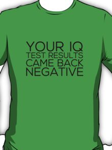 IQ Test Results T-Shirt