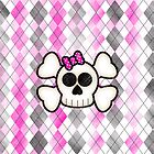 Kawaii Emo Girls Skull and Crossbones by ArtformDesigns