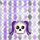Kawaii Goth Cyberpunk Skull by ArtformDesigns