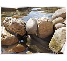 Watered Rocks Poster