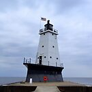 Ludington, Mi. Lighthouse by Debbie  Maglothin