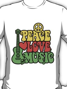 Reggae Peace-Love-Music T-Shirt