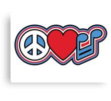 PEACE LOVE MUSIC Symbols Canvas Print
