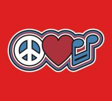 PEACE LOVE MUSIC Symbols Kids Clothes