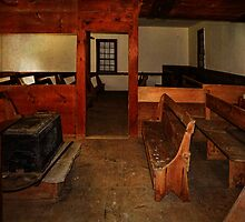 Inside the Quaker Meeting House by PineSinger