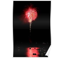Patriotic Red Reflections Poster