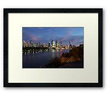 Brisbane CBD Skyline  Framed Print