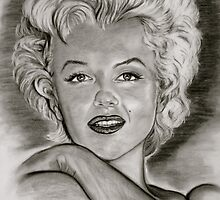 Marilyn in black and white by GittaG74