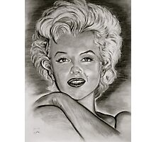 Marilyn in black and white Photographic Print