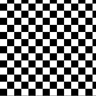 black and white checkered pattern by nadil