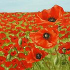 Poppies by Lynne  M Kirby BA(Hons)