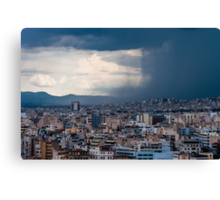 Stormy day in Athens Canvas Print