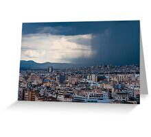 Stormy day in Athens Greeting Card