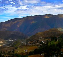 Andes Mountains Panorama by Al Bourassa