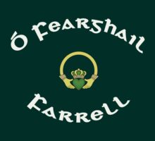 Farrell Surname - Dark Shirts with Claddagh by Mike Collins