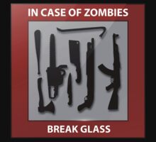 In Case Of Zombies Break Glass by BrightDesign