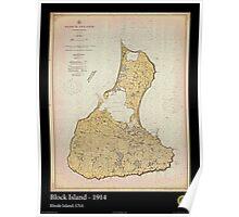 Vintage Print Image of Block Island - 1914 Poster