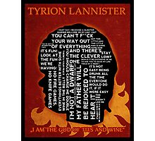 Tyrion Lannister GAME OF THRONES Photographic Print