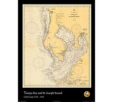 Vintage Print of Tampa Bay and St. Joseph Sound - 1932 Photographic Print