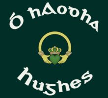 Hughes Surname - Dark Shirts with Claddagh by Mike Collins