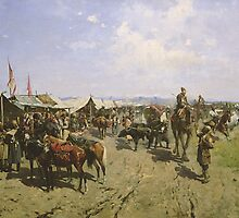 Market in the Caucasus  by Bridgeman Art Library