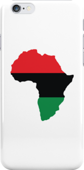 Red, Black & Green Africa Flag by forgottentongue