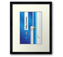 Web Page Browser  Framed Print
